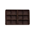 Tray, Rectangle, Brown, 8 oz., 12 Cavity, QTY/CASE-50