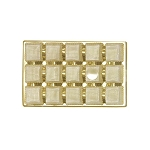 Tray, Rectangle, Bright Gold, 8 oz., 15 Cavity, QTY/CASE-50
