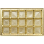 Tray, Rectangle, Gold, 16 oz., 15 Cavity, QTY/CASE-50