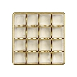 Tray, Square, Gold, 8 oz., 16 Cavity, QTY/CASE-50