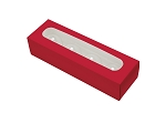 Folding Carton, Truffle Window Box, 4-Piece, Rectangle, Red, QTY/CASE-50