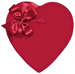 Heart Box, Red Velvet, 2 lb., QTY/CASE-4
