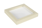 Folding Carton, This Top - That Bottom, Window Lid, 16 oz., Square, Pearlescent, QTY/CASE-50