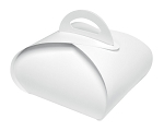 Folding Carton, Bakery Tote Box, 8 oz., White, 7
