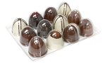 Tray, Truffle, Dome Rectangle, Clear, 12 Cavity, QTY/CASE-50