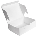 Folding Carton, Cookie Box, 2 dozen, White, 12-1/16