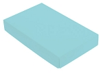 Folding Carton, This Top - That Bottom, Lid, 8 oz., Rectangle, Robin Egg Blue, QTY/CASE-50