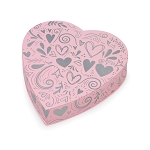 Heart Box, Princess, Pink, 8 oz., QTY/CASE-24