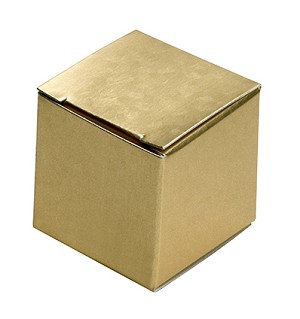 Folding Carton, CLOSEOUT, Essence of Gold, 1-Piece, Square, QTY/CASE-50