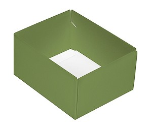 Folding Carton, CLOSEOUT, This Top - That Bottom, Base, 4 oz., Rectangle, Green, Double-Layer, QTY/CASE-50