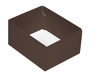 Folding Carton, CLOSEOUT, This Top - That Bottom, Base, 4 oz., Rectangle, Brown, Double-Layer, QTY/CASE-50
