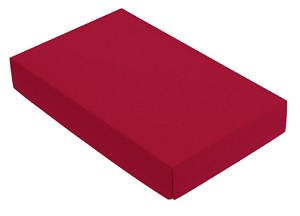 Folding Carton, This Top - That Bottom, Lid, 8 oz., Rectangle, Red, QTY/CASE-50