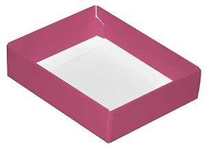 Folding Carton, CLOSEOUT, This Top - That Bottom, Base, 4 oz., Rectangle, Pink, Single-Layer, QTY/CASE-50