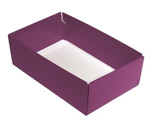 Folding Carton, CLOSEOUT, This Top - That Bottom, Base, 8 oz., Rectangle, Purple, Double-Layer, QTY/CASE-50