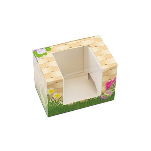 Folding Carton, Window Lid, 8 oz., Rectangle, Miss Bunnykins Basket , QTY/CASE-25