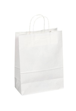 "Kraft Bag, White, 10"" x 5"" x 13"", QTY/CASE-250"