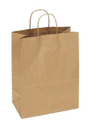 Kraft Bag, Natural, 13 in.x 7 in.x 17 in., QTY/CASE-250