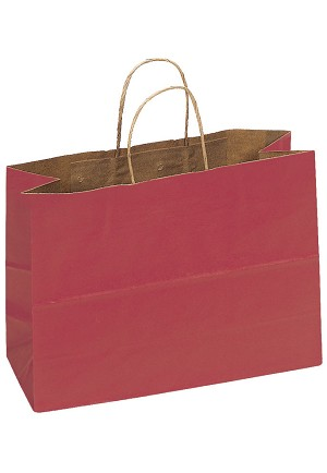 Kraft Bag, Red Natural, 16 in.x 6 in.x 12 in., QTY/CASE-250