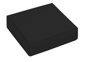 Folding Carton, This Top - That Bottom, Lid, 3 oz., Petite, Square, Black, QTY/CASE-50
