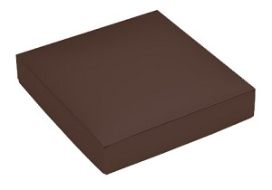 Folding Carton, This Top - That Bottom, Lid, 8 oz., Square, Brown, QTY/CASE-50