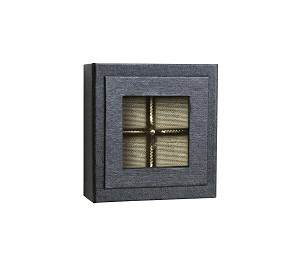 Rigid Set-Up Box, Magnetic Charm Window Box, 4-Piece, Charcoal Sapphire, QTY/CASE-12