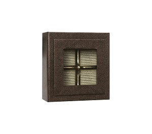 Rigid Set-Up Box, Magnetic Charm Window Box, 4-Piece, 3 oz., Deco Bronze, QTY/CASE-12