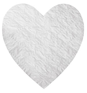 Padding, Heart, White, 3 lb., QTY/CASE-25