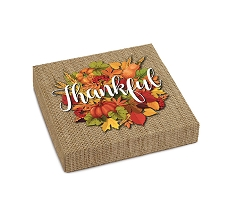 Thankful, Decorative Gift Box, 5-1/2 x 5-1/2 x 1-1/8