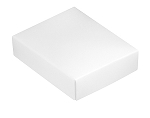 Folding Carton, This Top - That Bottom, Lid, 4 oz., Rectangle, White, QTY/CASE-50