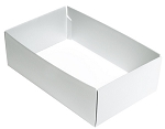 Folding Carton, This Top - That Bottom, Base, 8 oz., Rectangle, White, Double-Layer, QTY/CASE-50