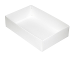 Folding Carton, This Top - That Bottom, Base, 16 oz., Rectangle, White, Double-Layer, QTY/CASE-50