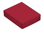 Folding Carton, This Top - That Bottom, Lid, 4 oz., Rectangle, Red, QTY/CASE-50