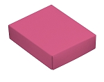 Folding Carton, This Top - That Bottom, Lid, 4 oz., Rectangle, Pink, QTY/CASE-50