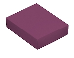 Folding Carton, This Top - That Bottom, Lid, 4 oz., Rectangle, Purple, QTY/CASE-50