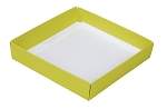 Folding Carton, This Top - That Bottom, Base, 8 oz., Square, Green, Single-Layer, QTY/CASE-50
