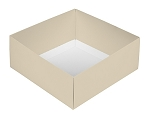Folding Carton, This Top - That Bottom, Base, 8 oz., Square, Pearlescent, Double-Layer, QTY/CASE-50