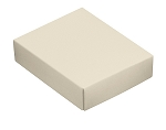 Folding Carton, This Top - That Bottom, Lid, 4 oz., Rectangle, Pearlescent, QTY/CASE-50