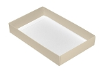 Folding Carton, This Top - That Bottom, Base, 8 oz., Rectangle, Pearlescent, Single-Layer, QTY/CASE-50