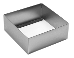 Folding Carton, This Top - That Bottom, Base, 8 oz., Square, Metallic Silver, Double-Layer, QTY/CASE-50