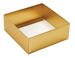 Folding Carton, This Top - That Bottom, Base, 8 oz., Square, Metallic Gold, Double-Layer, QTY/CASE-50