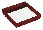 Folding Carton, This Top - That Bottom, Base, 8 oz., Square, Metallic Red, Single-Layer, QTY/CASE-50