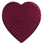 Heart Shaped Candy Box, Moulin Rouge, 8 oz., QTY/CASE-12