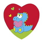 Heart Box, Dinosaur, 4 oz., QTY/CASE-48