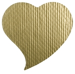 Padding, Whimsical Heart, Gold, 1 lb., 10 x 9-3/4