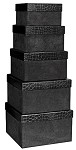 Rigid Set-up Box, Stackable Boxes, 5-Tier, Black, QTY/CASE-6