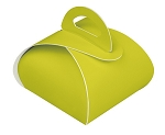 Favor Box, 1-Piece, Chartreuse, 2-3/8 x 2-3/8 x 1-5/8
