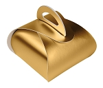 Folding Carton, Favor Box, 1-Piece, Metallic Gold, QTY/CASE-50