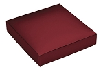 This Top - That Bottom, Lid, Square, Metallic Red, 5-1/2 x 2-1/2 x 1-1/8