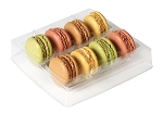 Tray, Macaron, Square, Clear, 8 Cavity, QTY/CASE-100
