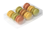 Tray, Macaron, Rectangle, Clear, 9 Cavity, QTY/CASE-100